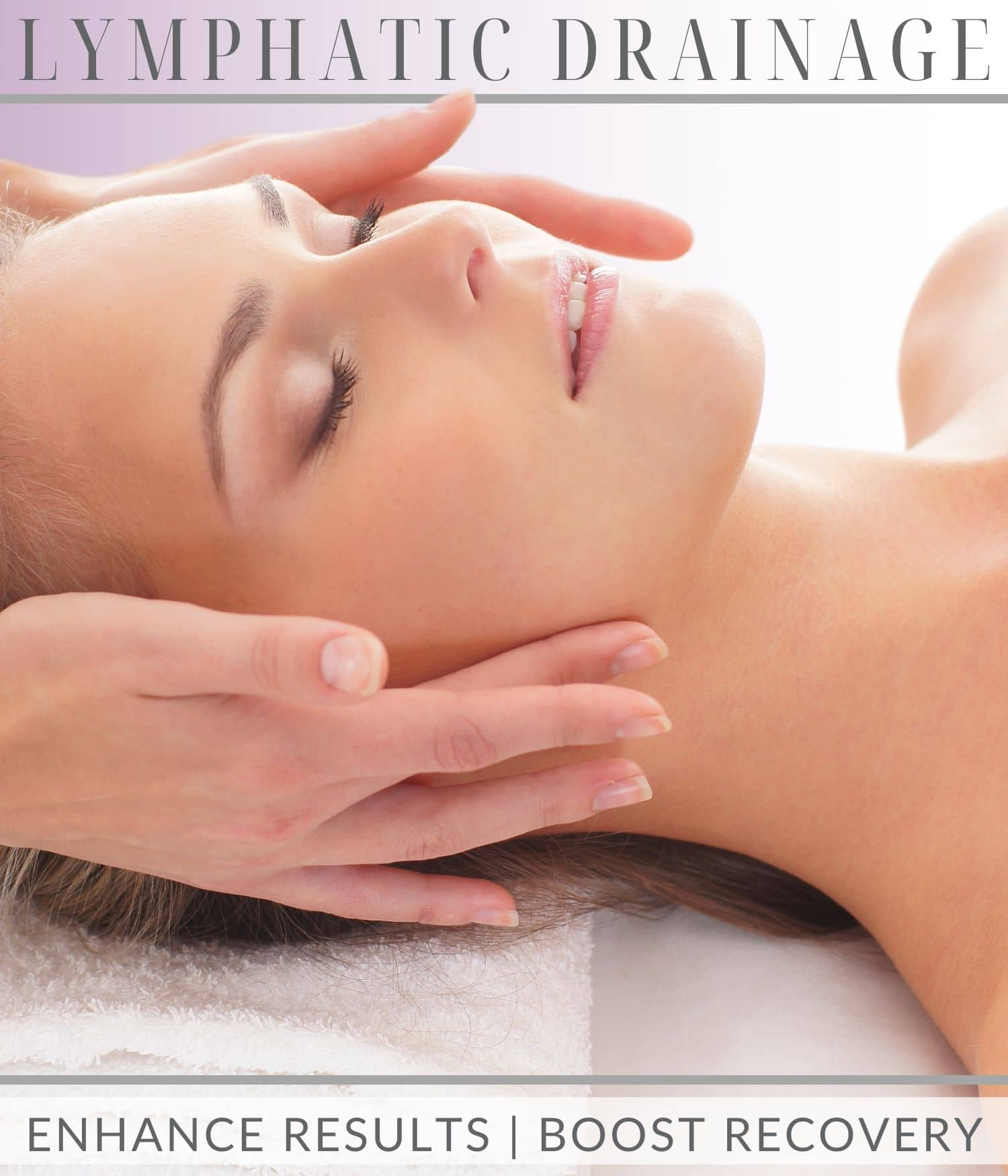 Woman receiving Lymphatic drainage massage in head at West Hollywood Mobile Version